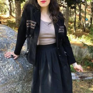 Jackets & Blazers - Unique Fall Jacket with Feathers and Fringe